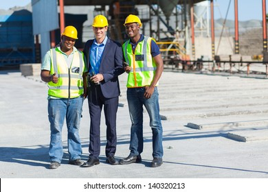 group of industrial manager and workers on site
