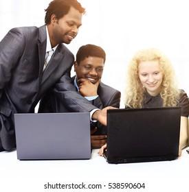 A group of international businessmen.