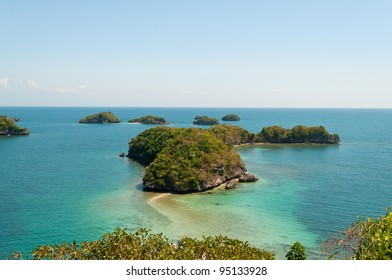 group of islands at Hundred Islands National Park, Alaminos, Pangasinan, Philippines