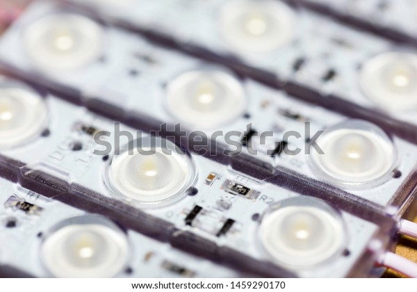 Group of LED moules connected by wires