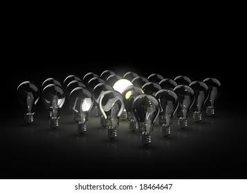 group of light bulbs