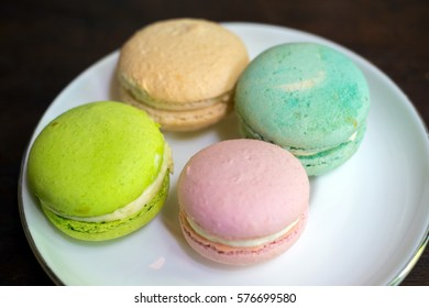 A group of Macaron in Beautiful and Delicous Afternoon Tea Set