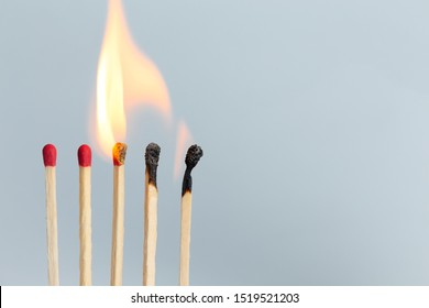Group of matches to burn detail object art