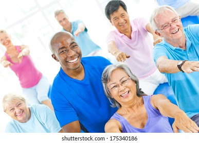 Group of Mature Healthy People