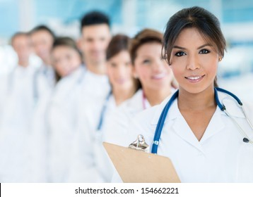 Group of medical staff at the hospital