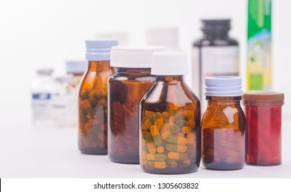 group of medicine bottle.