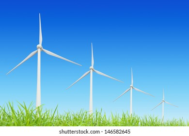 group modern windmills for renewable electric energy production