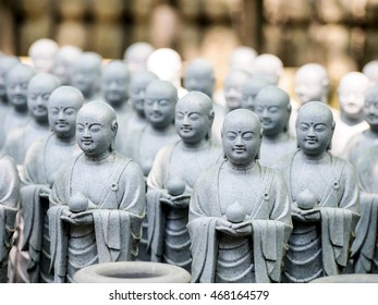group of monks statue in Hase-Dera temple, Kamakura, Japan