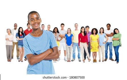 Group of Multi Ethnic Diverse People with A Young African Boy