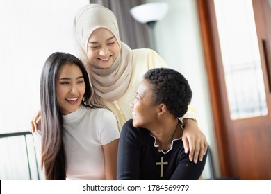 A group of multi ethnic friends, multi racial women with different religions; concept of people with diversity and inclusivity - Shutterstock ID 1784569979