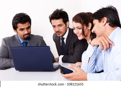 group of multi racial business people in meeting
