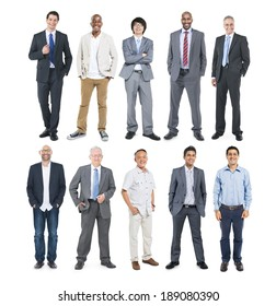 Group of Multiethnic Diverse Cheerful Businessmen