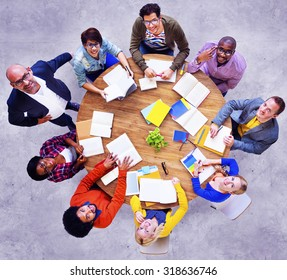 Group of Multiethnic People Looking Up Concept