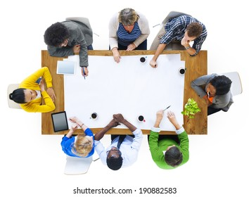 Group of Multiethnic People Planning a New Project