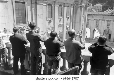 Group of musician playing brass