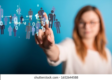 group of network people - Business and contact