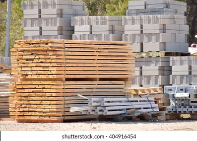 group of new construction materials for buildings