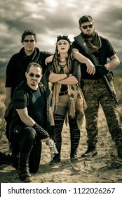 A group of nomadic soldier in a post apocalyptic nuclear wasteland. Lead by a female warlord and armed to the teeth, will they live to see the sunrise? Shot in the California desert, nuclear themed.