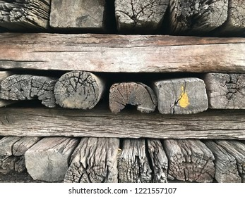 A group of old wooden sleeper and Old Wood