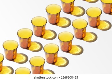 Group of orange glasses