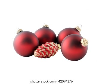 Group of ornaments, isolated on white