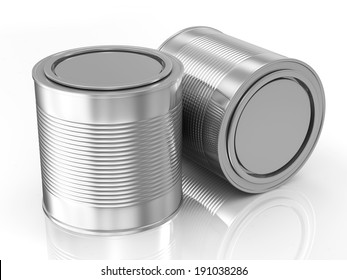 Group of Paint Cans isolated on white background