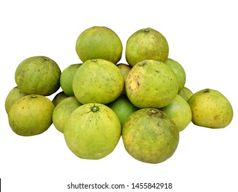 Group of Pamelo fruit isolate on white background with clipping path