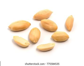 group of peeled peanuts