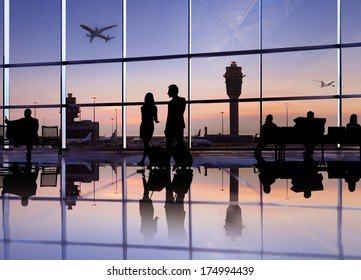 Group of People in the Airport