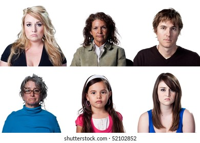 Group of people with blank stares on their faces