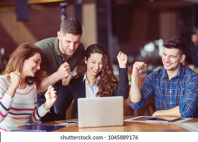 group of people celebrating. concept