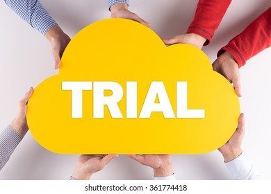 Group of People Cloud Technology TRIAL Concept