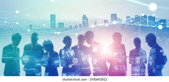 Group of people and communication network concept. Social media. Human resources.