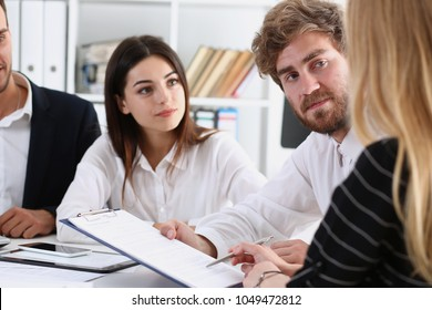 Group of people deliberate on white board problem in office closeup. Graph consult idea participate creative talk review situation job document explain council train successful decision concept