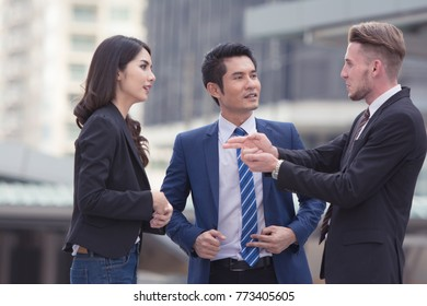 Group of people doing business by teamwork together, successful business teamwork concept.