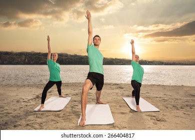 group of people doing workout
