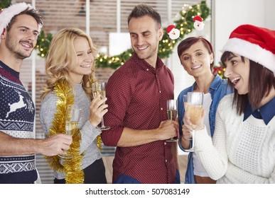Group of people enjoying their Christmas time
