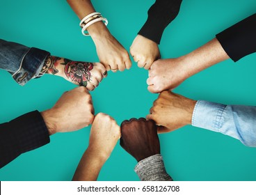 Fist bump images stock photos vectors shutterstock group of people fist bump assemble together m4hsunfo