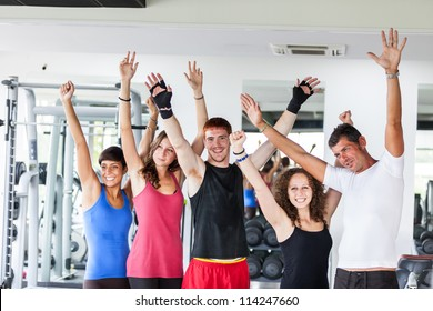 Group of People at Gym