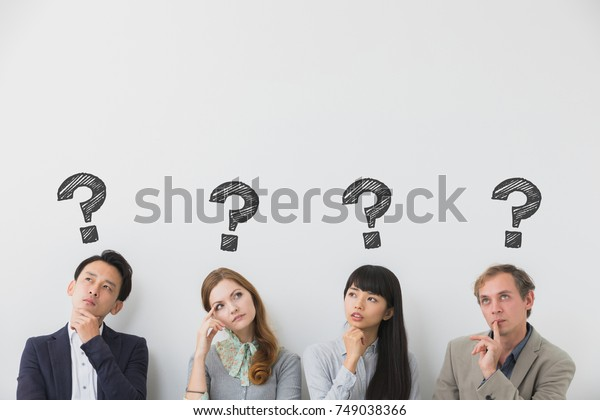 Group of people having questions.