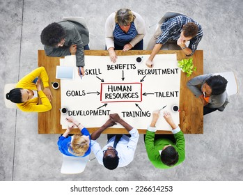 Group of People and Human Resources Concept