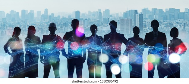 Group of people. Human Resources. Global network. Diversity.