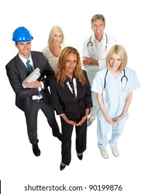 Group of people illustrating different career options