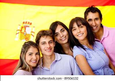 Group of people learning Spanish as a foreign language in Spain