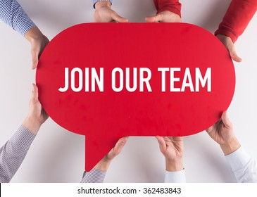 Group of People Message Talking Communication JOIN OUR TEAM Concept