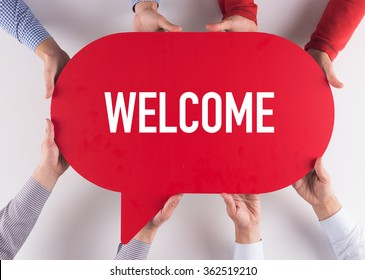 Group of People Message Talking Communication WELCOME Concept
