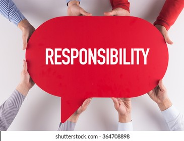 Group of People Message Talking Communication RESPONSIBILITY Concept