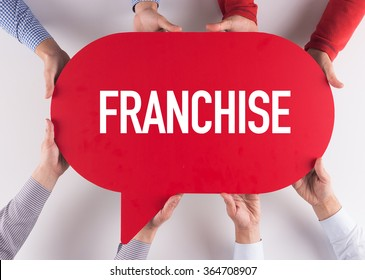 Group of People Message Talking Communication FRANCHISE Concept