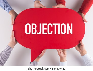 Group of People Message Talking Communication OBJECTION Concept