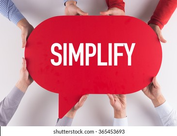 Group of People Message Talking Communication SIMPLIFY Concept